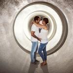 Pregnancy photoshoot in quarry